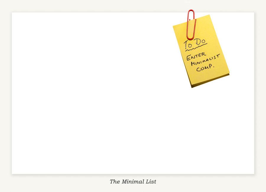 BLOG 2 Jun 2015: The Minimal List